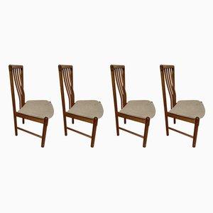 Dänische Esszimmerstühle aus Teak von Benny Linden, 1960er, 4er Set