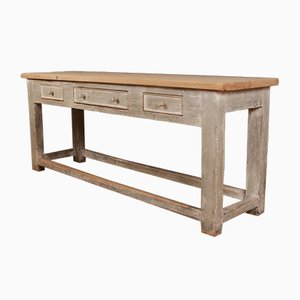 Antique Wooden Console Table, 1820s