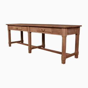 Antique Oak Console, 1880s