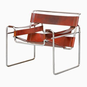 Cognac Leather Wassily Armchair by Marcel Breuer for Knoll International, 1968