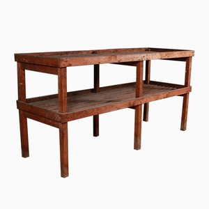 Antique Wooden Console Table, 1890s