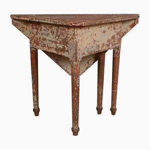 Antique Wooden Drop Leaf Table, 1820s