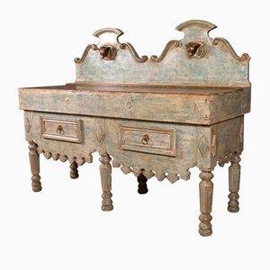 Ceppo da macelleria antico in legno, Francia, metà XIX secolo