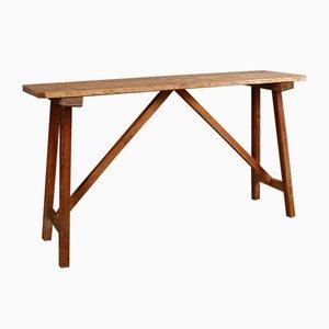 Table à Tréteaux Antique en Chêne, France, 1880s