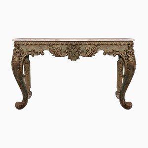 Consola italiana antigua de madera