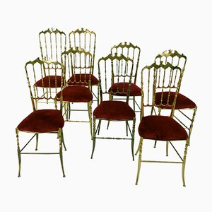 Italian Chairs by Giuseppe Gaetano Descalzi for Chiavari, 1960s, Set of 8