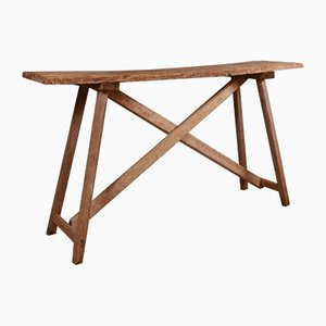 Antique French Oak Trestle Table