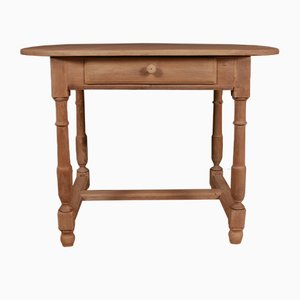 Antique French Oak Lamp Table, 1890s