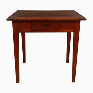 Antique French Cherry Side Table, 1860s