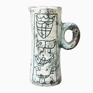 Kleiner Mid-Century Keramikkrug von Jacques Blin für Studio Unica, 1950er