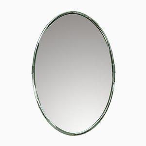 Moderner italienischer Vintage Spiegel mit verchromtem Rahmen, 1970er