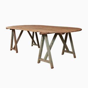 Tavolo antico in legno, Francia, metà XIX secolo