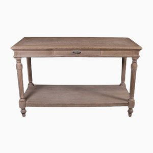 Antique French Oak Console Table