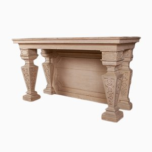 Antiker italienischer Konsolentisch aus Holz
