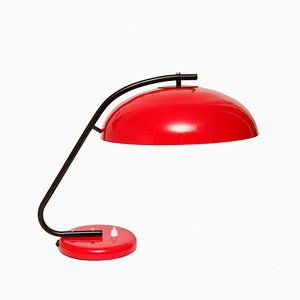 Metal and Steel Table Lamp from Mazurskie Zakłady Aparatury Oświetleniowej, 1950s