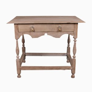 Antique Oak Side Table, 1840s