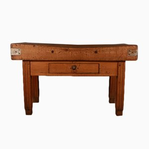 Antique French Wooden Console Table