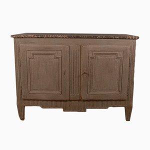 Antikes französisches Buffet aus Holz & Marmor
