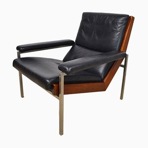 Chrome Plated and Leather Armchair by Rob Parry for De Ster Gelderland, 1960s