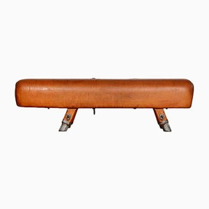 Vintage Leather Gymnastics Pommel Horse, 1930s