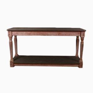 Antiker französischer Beistelltisch aus Holz