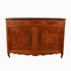 Antique French Cherry & Burl Walnut Buffet, 1840s