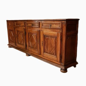 Large Antique Italian Walnut Buffet, 1770s