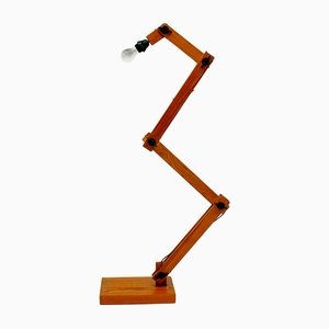 Scandinavian Modern Wooden Floor Lamp from Linus Bopp, 1970s
