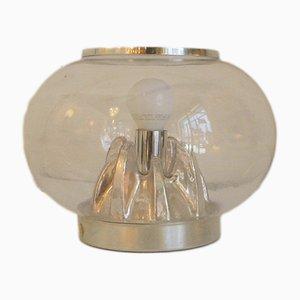 Lámpara en forma de globo de cristal de Murano, años 70