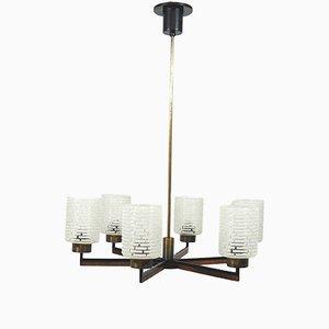 Lámpara colgante escandinava moderna, años 50