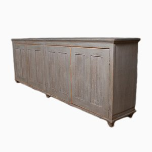 Antique French Painted Pine Sideboard, 1840s