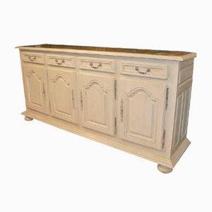 Aparador francés antiguo de madera pintada y zinc