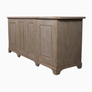 Aparador francés antiguo de madera pintada