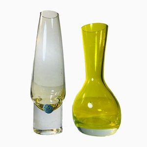 Colored Glass Vases by Eneryda Glasbruk & Arthur Percy for Gullaskruf, 1950s, Set of 2