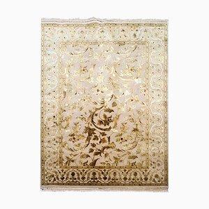 Handgefertigter Vintage Teppich aus Seide & Wolle, 1980er