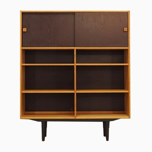 Danish Ash Veneer Bookcase from Domino Mobler, 1970s