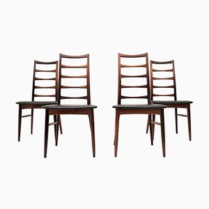 Danish Lis Dining Chairs by Niels Koefoed for Koefoeds Hornslet, 1960s, Set of 4