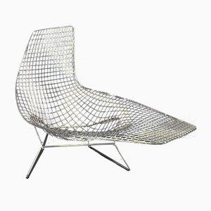 Chaise longue in acciaio di Harry Bertoia per Knoll Inc., inizio XXI secolo