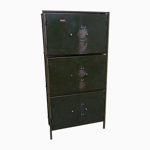 Antique Industrial Bank Cabinet from Milner Safe Company