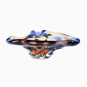 Bohème Niagara Schale aus Kunstglas von Frantisek Zemek für Mstisov, 1960er