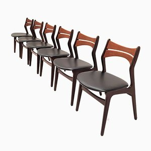 Model 310 Dining Chairs by Erik Buch for Chr. Christiansen, 1960s, Set of 6