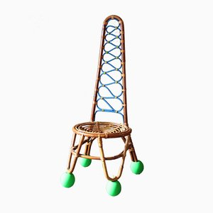 Französischer Mid-Century Stuhl aus Rattan von Markus Friedrich Staab