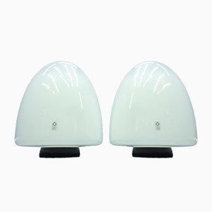 Lámparas de pie italianas de vidrio de Giusto Toso para Leucos, años 60. Juego de 2