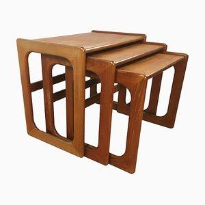 Tavolini ad incastro in teak, Danimarca, anni '60