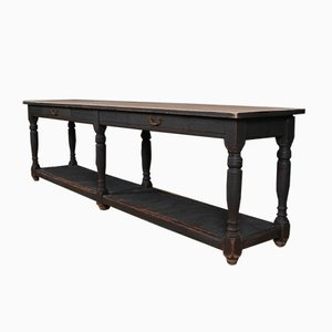 Antique French Walnut Draper's Table, 1880s