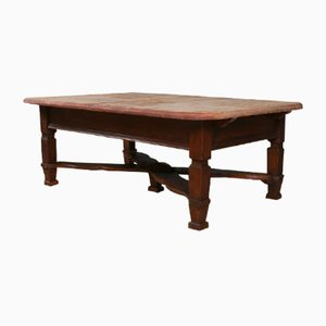 Low Antique Austrian Pine Table, 1880s