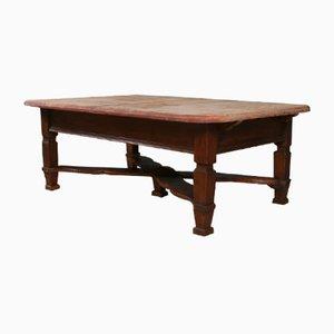 Österreichischer niedriger antiker Tisch aus Pinienholz, 1880er