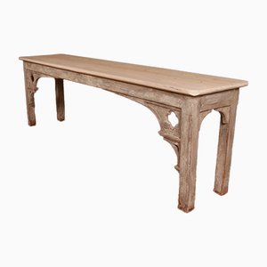 Antique Gothic Style Pine Console Table