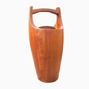 Large Teak Ice Bucket by Jens Quuistgaard for Dansk Design, 1960s