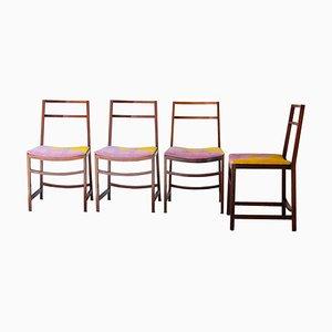 Italienische Esszimmerstühle von Renato Venturi für MIM, 1960er, 4er Set